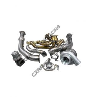 CX Racing T4 T76 Turbo Kit Manifold Downpipe For Land Cruiser J80 1FZFE 1FZ-FE 1FZ
