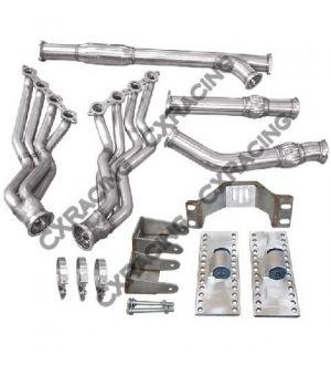 CX Racing LS1 Engine T56 Transmission Mounts Swap Kit Header Y Pipe For 86-89 Supra MK3