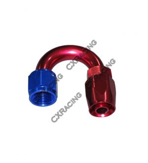 CX Racing AN 8 AN8 8AN 180 Degree U Swivel Oil/Fuel Hose End Aluminum Oil Fitting