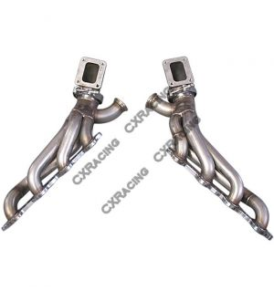 CX Racing Twin Turbo Manifold Header Kit For 86-92 Supra MK3 LS1 LSx swap