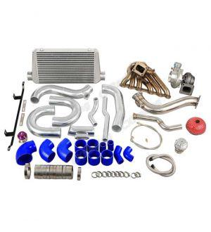 CX Racing Single Turbo Intercooler Downpipe Kit for 2JZGTE 08-16 Genesis Coupe Swap