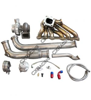 CX Racing GT35 Turbo Manifold Downpipe Oil Line Kit For Cressida MX83 2JZ-GTE 2JZGTE