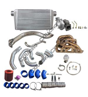 CX Racing GT35 Turbo Intercooler Manifold Kit For 98-05 Lexus GS300 2JZ-GE Engine NA-T