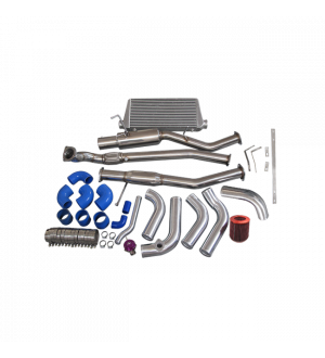 CX Racing 1JZ-GTE-VVTI 1JZ Engine Swap Kit Intercooler Downpipe Catback For 240SX S13 S14