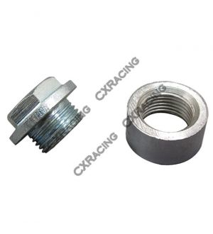 CX Racing 304 Stainless Steel O2 Bung Plug + Cap O2 Sensors Weld on