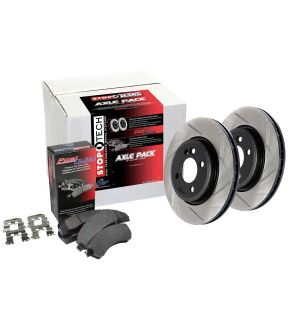 Stoptech Street Pack-Slotted Rear Rotor w/Pads