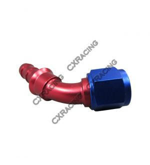 CX Racing 8 AN AN8 45 Degree Racing Aluminum Hose End Fitting Push On Lock Oil Adapter