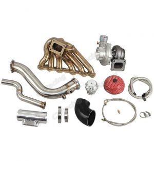 CX Racing Single Turbo Manifold Downpipe Kit for 2JZGTE 08-16 Genesis Coupe Swap