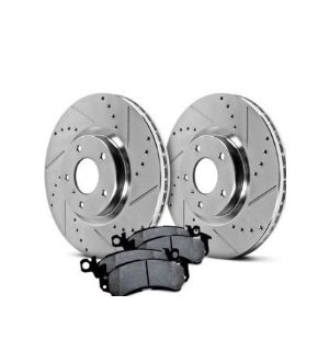 Hawk Performance Rotors w/ PC Pads Kit Front
