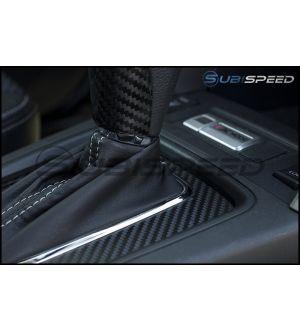 3D Carbon Fiber CVT Shifter Overlay - 15+ WRX CVT / 15-18 Forester CVT / 15-17 Crosstrek CVT