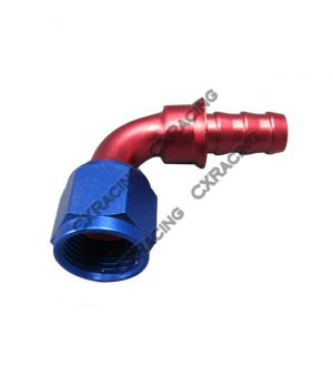 CX Racing AN8 AN 8 8AN 90 DEGREE SWIVEL OIL/FUEL/GAS LINE HOSE END PUSH-ON MALE FITTING