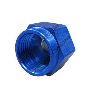 CX Racing Anodized Aluminum Flare Oil Fitting AN 8 Cap Block Off AN8 8AN Blue