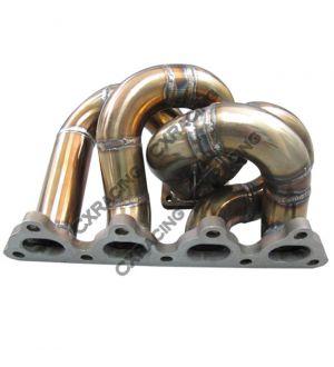 CX Racing T28 Thick Manifold + Downpipe For Civic D15 D16 D-Series EK EG DC2