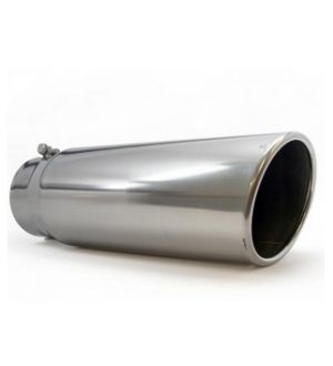 Bully Dog 4inch-5inch Polished 304 Stainless Rolled End Angle Cut Bolt on Any 4inch Dia Exhaust