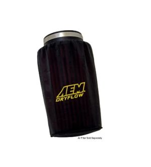 AEM DryFlow Pre-Filter Air Filter Wrap (6in Base 5.25in Top 9in Tall) Universal
