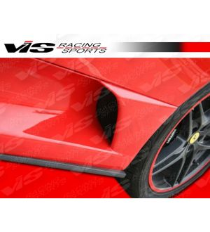 Vis Racing 2005-2009 Ferrari F430 Scuderia Oem Style Carbon Fiber Add-On Side Skirts