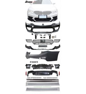 Ikon Motorsports 17-20 BMW G30 to M5 Style Conversion Kit Front Rear Bumpers Side Skirt Ext