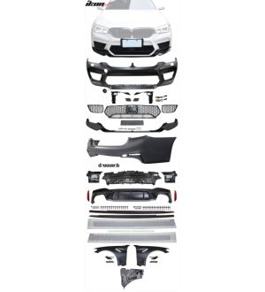Ikon Motorsports 17-20 G30 to M5 Style Conversion Kit Front Rear Bumpers Fender Side Ext