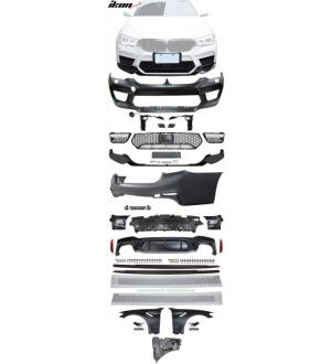 Ikon Motorsports 17-20 G30 to M5 Style Conversion Kit Front Rear Bumpers Fenders Side Ext