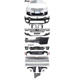 Ikon Motorsports 17-20 BMW G30 to M5 Style Conversion Kit Front Rear Bumpers Fender Side Ext