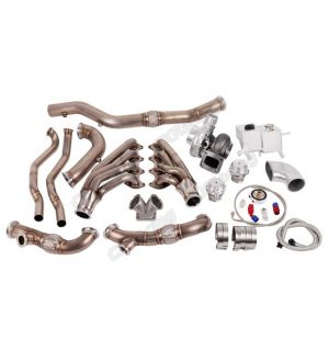 CX Racing Turbo Header Manifold Downpipe Kit for 05-14 Ford Mustang 4.6L V8 NA-T Coolant PS Tank