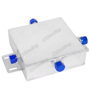 CX Racing Universal Aluminum Oil Fluid Reservoir Tank 4 AN10 Fitting Caps