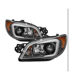 Spyder Subaru impreza WRX 2006-2007 Projector Headlights - Xenon/HID Model Only ( Not Compatible With Halogen Model ) - Light Bar DRL - Black