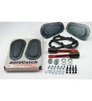 Aerocatch Hood Pins Flush Non-Locking Carbon Look