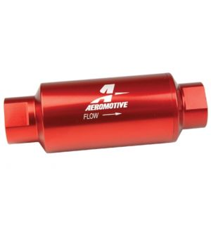Aeromotive Fuel Filter Red 100 Micron Stainless Steel Element Universal