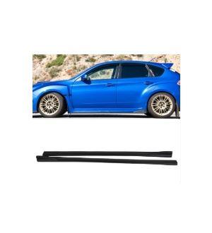 Ikon Motorsports 2008-2014 Subaru Impreza WRX STI CS Side Skirt Extensions Polyurethane