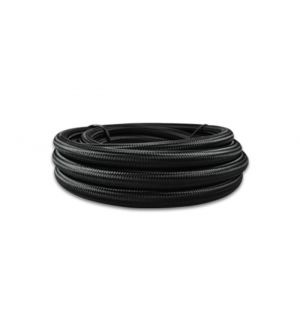 Vibrant -12 AN Black Nylon Braided Flex Hose .68in ID (50 foot roll)