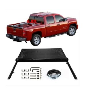 Ikon Motorsports Fits 04-06 Chevy Silverado GMC Sierra 5.8FT Bed Roll Up Tonneau Cover