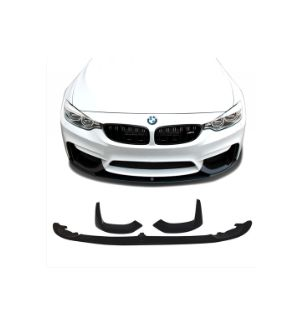 Ikon Motorsports Fits 15-20 BMW F80 F82 P Style Front Bumper Lip Chin Spoiler Splitter 3 Pieces