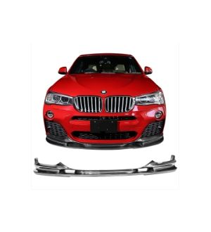 Ikon Motorsports Fits 14-17 BMW F26 M-tech Type 2 Front Bumper Lip Underbody - Carbon Fiber