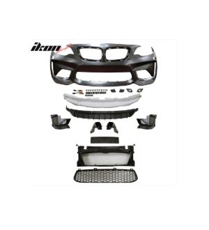Ikon Motorsports Fits 14-17 BMW F22 F23 2 Series M2 Style Front Bumper Cover Conversion - PP