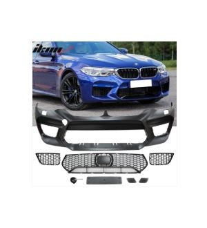Ikon Motorsports Fits 17-20 BMW G30 5 Series Sedan M5 Style Front Bumper Cover Conversion - PP