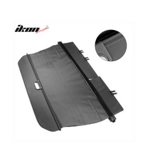 Ikon Motorsports 2016-2019 Honda Pilot Factory Style PVC Cloth Retractable Cargo Cover Black
