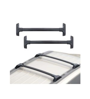 Ikon Motorsports 09-17 Chevy Traverse OE Style Roof Rack Rail Cross Bar Carrier Black