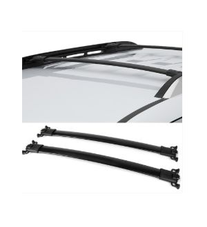 Ikon Motorsports 10-17 Chevy Equinox GMC Terrain Factory Style Top Roof Rack Cross Bar Black