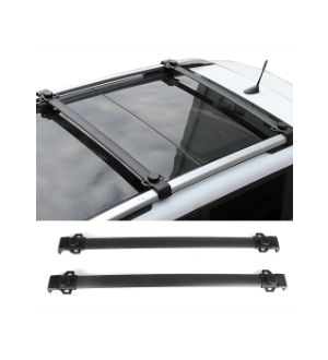 Ikon Motorsports  14-18 Jeep Renegade OE Factory Style Aluminum Roof Rack Cross Bars Pair