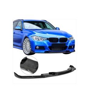 Ikon Motorsports Fits 12-18 BMW F30 M Sport M-Tech HM Style Front Bumper Lip - Carbon Fiber