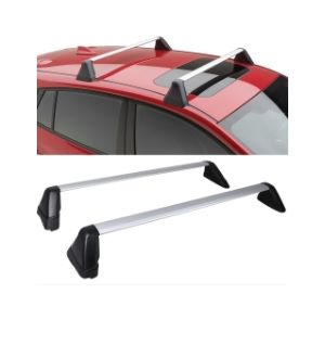 Ikon Motorsports 08-14 Subaru Impreza WRX & STi Factory Style Fixed Roof Rack Cross Bar Set