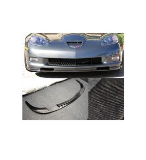 Ikon Motorsports 2005-2013 Chevrolet Corvette C6 Z06 ZR1 Carbon Fiber Front Bumper Lip Splitter