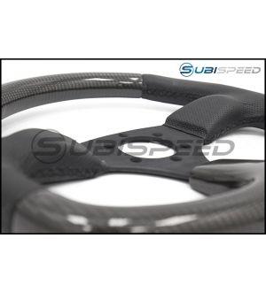 NRG Flat Bottom Carbon Fiber Steering Wheel 320mm Carbon Fiber Center Plate - Universal