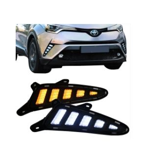Ikon Motorsports 17-18 Toyota CHR C-HR DRL Side Signal Lights W/ Switchback Function