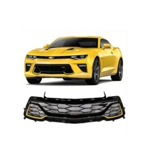 Ikon Motorsports Fits 2016 - 2019 Camaro 50th Anniversary Front Lower Grille Painted Lemon Peel #WA131X