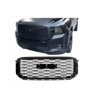 Ikon Motorsports Fits 15-19 GMC Yukon Denali Style Front Upper Grille Replacement Black ABS