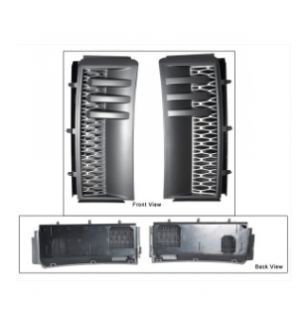 Ikon Motorsports 2003-2012 Land Rover Range Rover L322 HSE Side Vents Gray Silver Pair