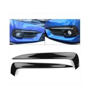Ikon Motorsports 16-20 Honda Civic 10th Gen Fog Lights Cover Eye Lid Trim Carbon Fiber Print