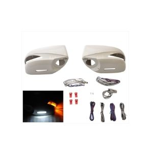 Ikon Motorsports Fits 2013-2014 Subaru FRS GT86 FT86 BRZ ABS Painted Mirror Cover ReplaceMent LED #37J